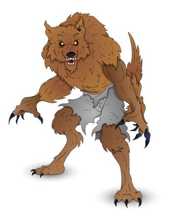 beast creature: Classic Werewolf Vector illustration