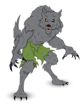 loup garou: Classique Vector illustration loup-garou Illustration