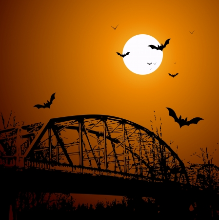 Old Horror Bridge Vector