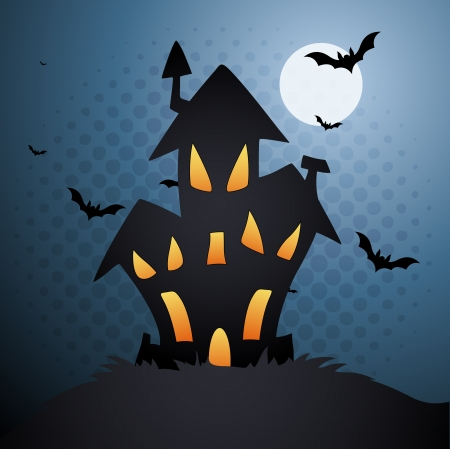 жуткий: Дом ужасов Иллюстрация