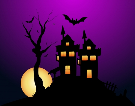 Haunted Halloween Vector House Vector