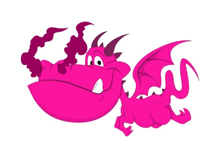 monster face: Cute Dragon Baby Illustration