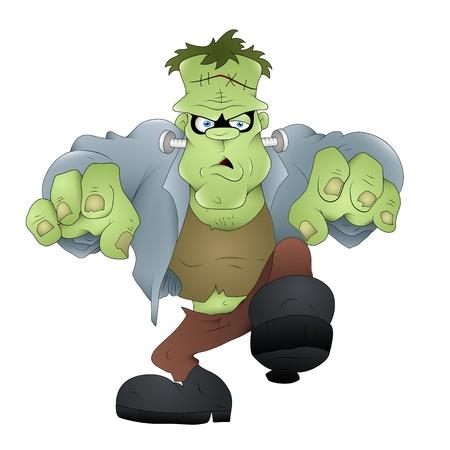 creepy monster: Frankenstein mostro Vector Vettoriali