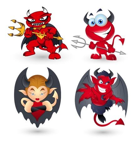 devil cartoon: Cartoon Devils