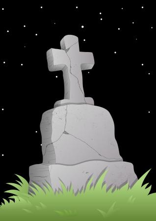 tombes: Croix celtique sur une pierre tombale