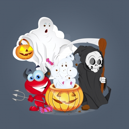 Halloween Celebartion Monsters Vector