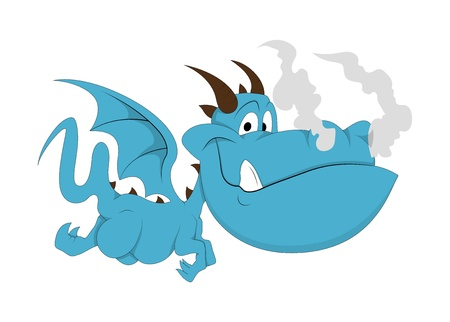 dragon fly: Funny Little Dragon Illustration