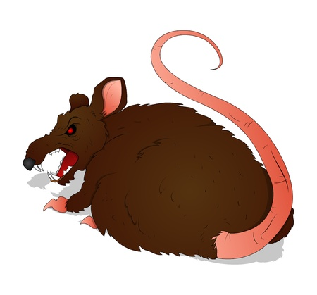 horrible: Horrible Rat Illustration
