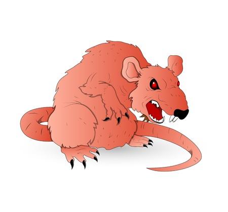 creepy monster: Vector Rat Horrible Vettoriali