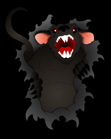 dead rat: Scary and Spooky Rat Vector