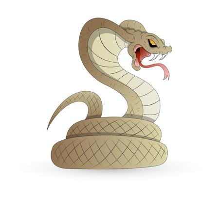 serpiente de cascabel: Vector Scary serpiente