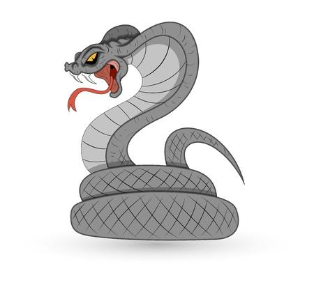 serpiente de cascabel: Serpiente Vector Spooky