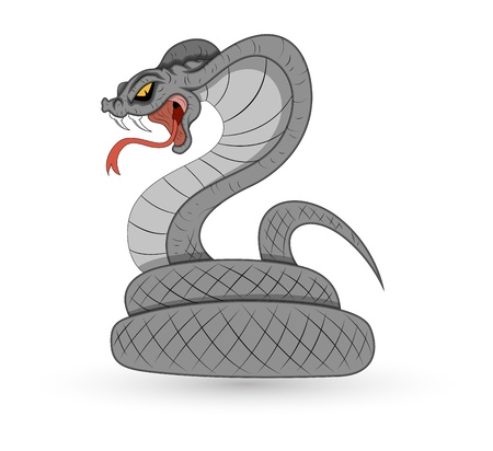 Spooky Vector Snake Stock Vector - 15759439