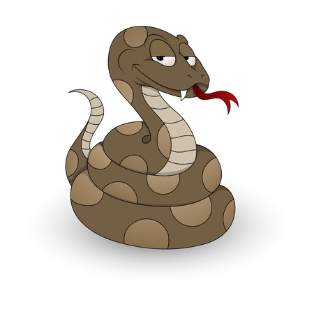serpiente de cascabel: Del vector de la serpiente