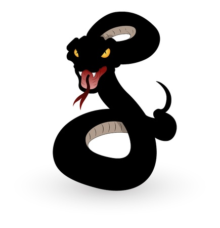 serpent � sonnette: Illustration de serpent