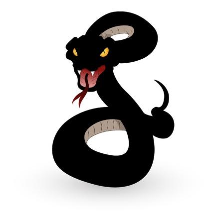 serpiente de cascabel: Serpiente Ilustraci�n