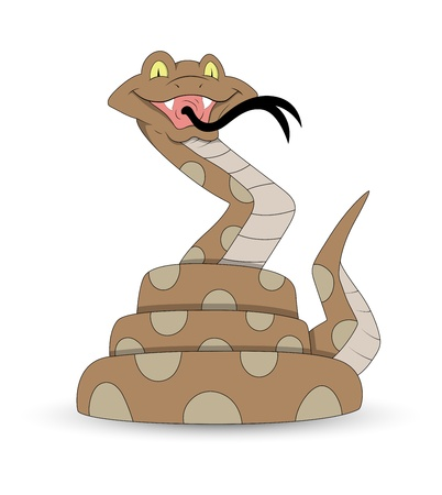 Funny Cartoon Snake Vector Illustration Vector