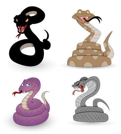 serpiente de cascabel: Conjunto de vectores Serpientes
