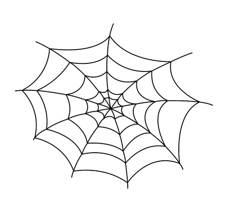 spiders: Spider Web Vector Illustration