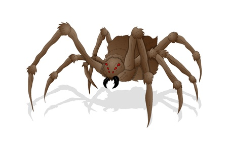 monster face: Creepy Spider