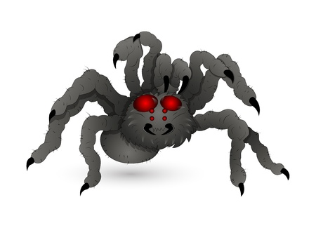 Evil Spider Stock Vector - 15759440