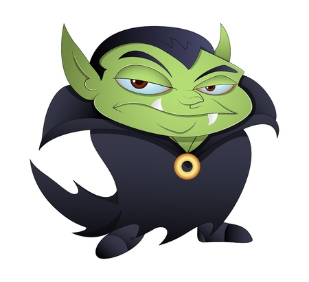Dracula Cartoon Illustration Vector