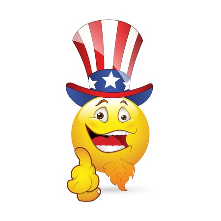 i want you: Smiley Emoticons Face Uncle sam Illustration