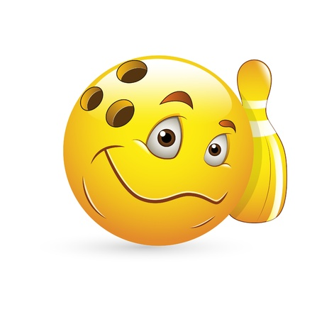 Smiley Emoticons Face Vector - Bowling Stock Vector - 15808692