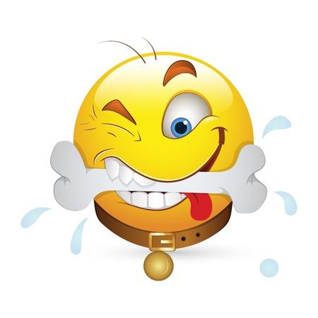 rosto: Smiley Emoticons Vector Rosto - Express�o Dog