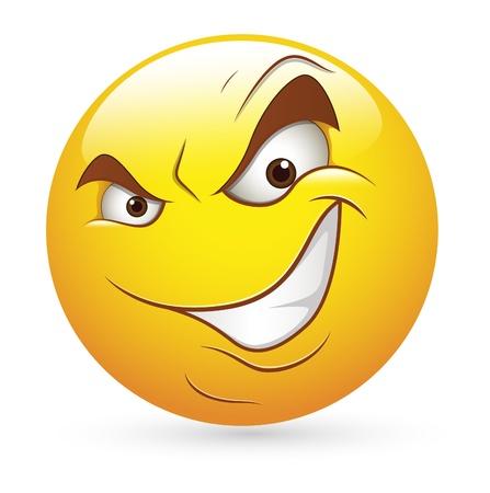 happiness: Smiley Emoticones Expresión facial mal Cunning