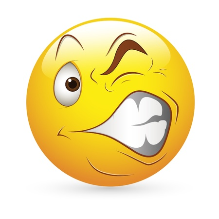 Smiley Emoticons Face Vector - Strange Expression Stock Vector - 15808700