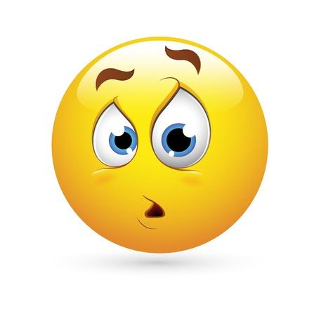 emoticone: Smiley Emoticons Vector Face - Espressione sorpresa