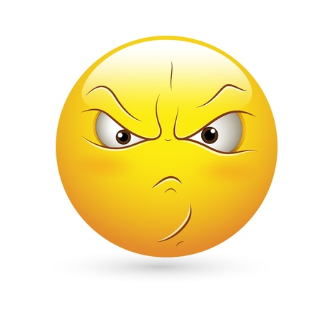 angry look: Smiley Emoticons Face Vector - Angry  Expression