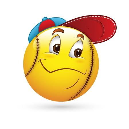 Smiley Emoticons Face Sporty Stock Vector - 15808778