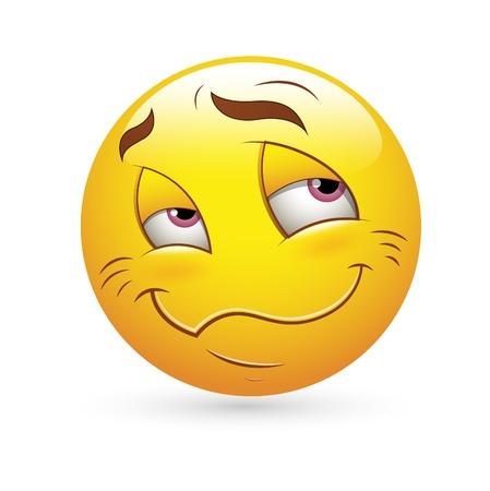 facial gestures: Smiley Face Vector Emoticons - Falling in Love