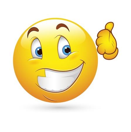Smiley Face Vector Emoticons - Happy Expression