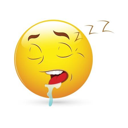 sleepy: Smiley Emoticons Face Vector - Sleeping Expression