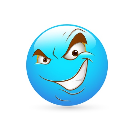 Smiley Emoticons Face Vector - Cunning Expression Stock Vector - 15808680