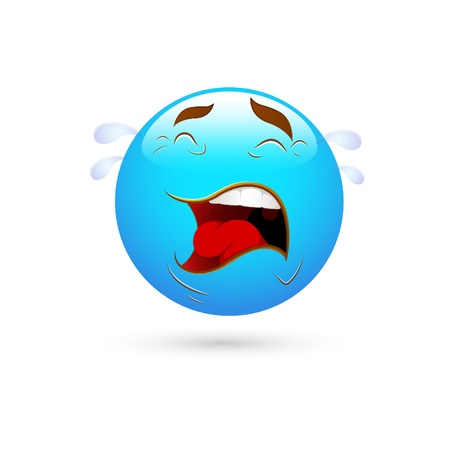 Smiley Emoticons Face Crying Vector