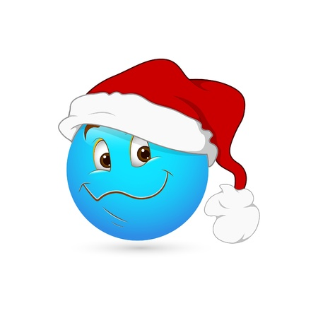 Smiley Emoticons Face Vector - Santa Stock Vector - 15808665