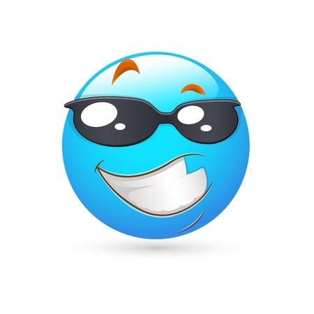 emoticone: Smiley Emoticons Vector Face - Espressione intelligente Vettoriali