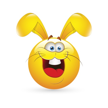 Smiley Emoticons Face Easter Bunny