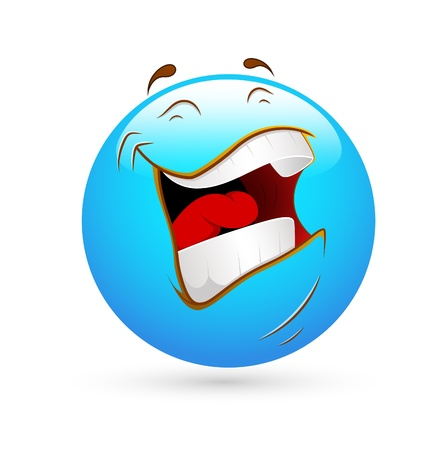 Smiley Emoticons Gesicht lachten laut Vektorgrafik