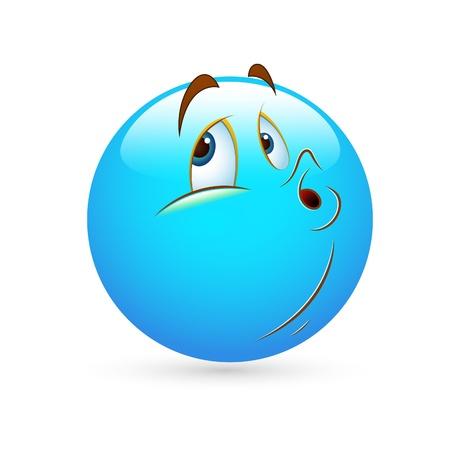 Smiley Emoticons Gezicht Vector - Het negeren van Vector Illustratie