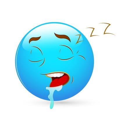 sleepily: Smiley Emoticons Face Vector - Sleeping
