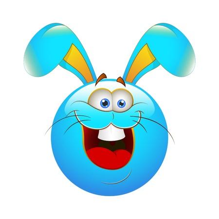 Smiley Emoticons Face Bunny Vector