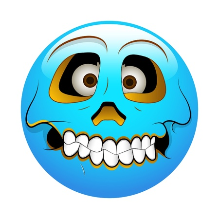 horrible: Smiley Emoticons Face Vector - Hollow Illustration