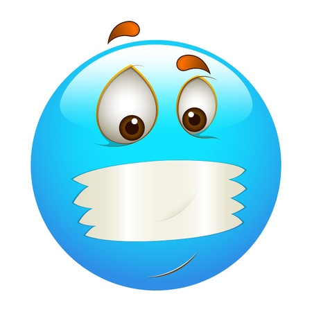 Smiley Emoticons Face Mouth Shut Vector