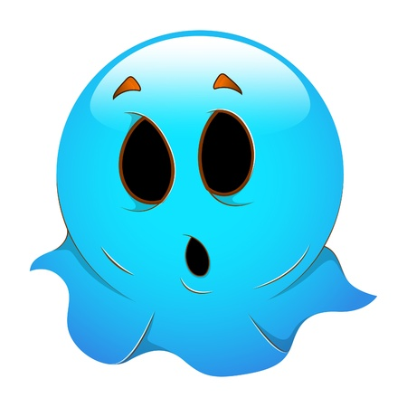 Smiley Emoticons Face Ghost Vector