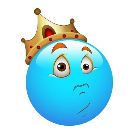 Smiley Emoticons Face Unexpected King Stock Vector - 15808768